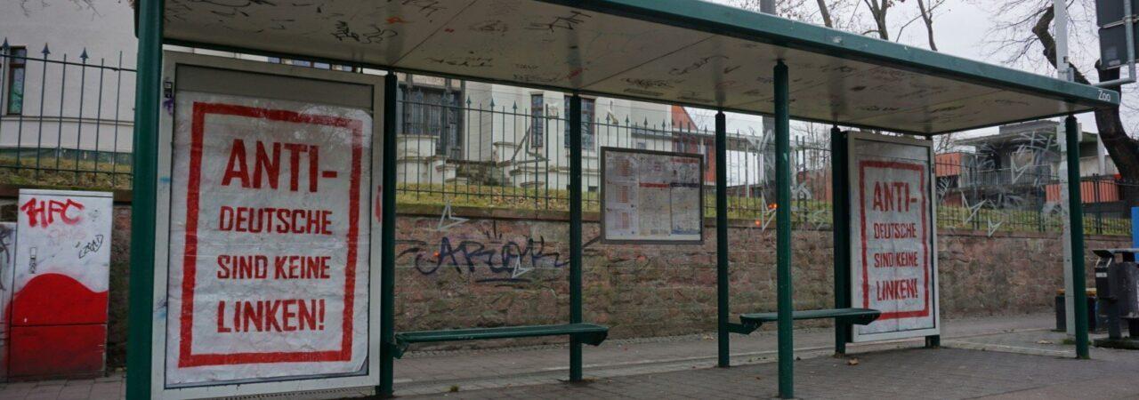 """Plakat """"Antideutsche sind keine Linken"""""""